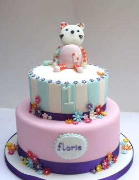 Cat and Stripes cake